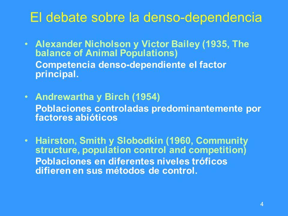 El debate sobre la denso-dependencia