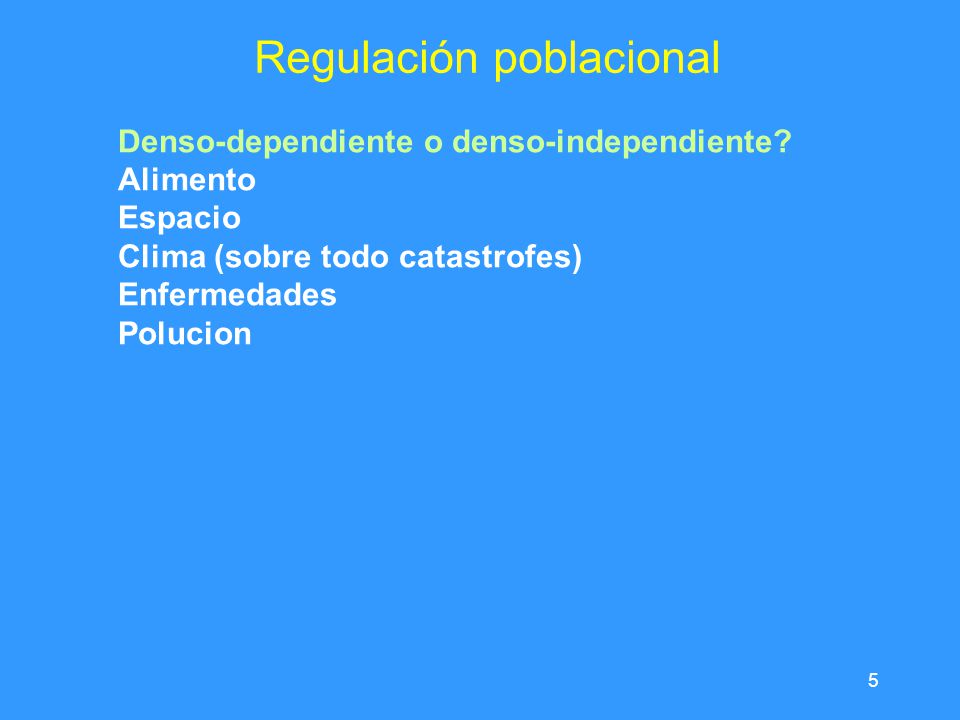 Regulación poblacional