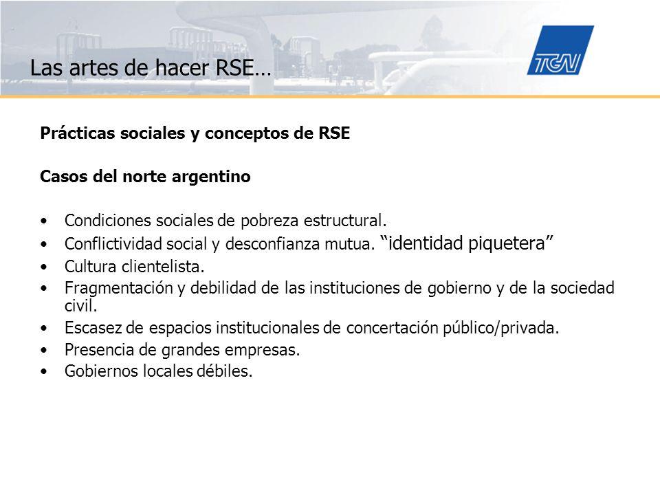 Las artes de hacer RSE… Prácticas sociales y conceptos de RSE