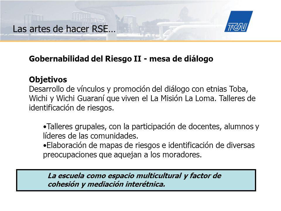 Las artes de hacer RSE… Gobernabilidad del Riesgo II - mesa de diálogo