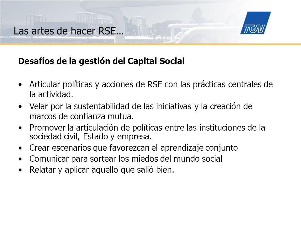 Las artes de hacer RSE… Desafíos de la gestión del Capital Social