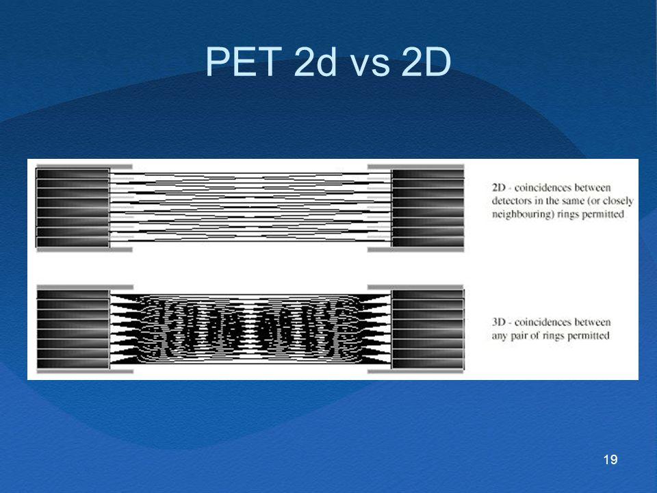 PET 2d vs 2D