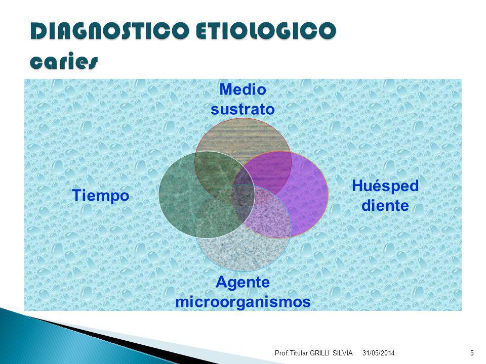 DIAGNOSTICO ETIOLOGICO caries