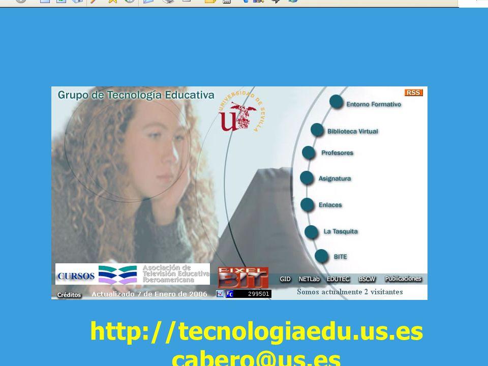 http://tecnologiaedu.us.es cabero@us.es
