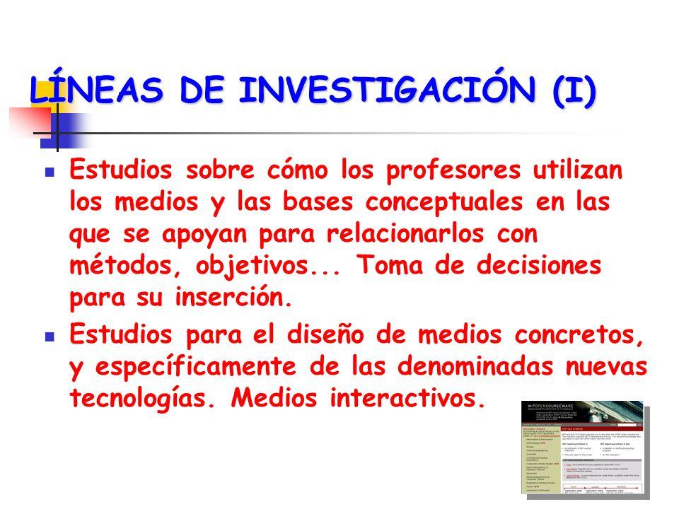 LÍNEAS DE INVESTIGACIÓN (I)