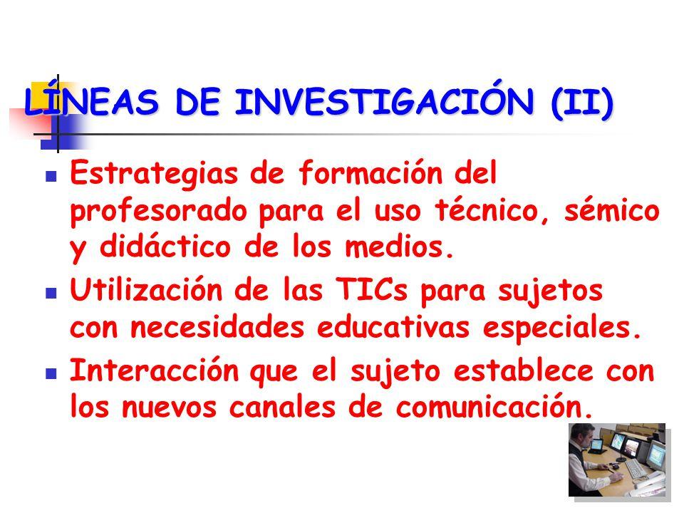 LÍNEAS DE INVESTIGACIÓN (II)
