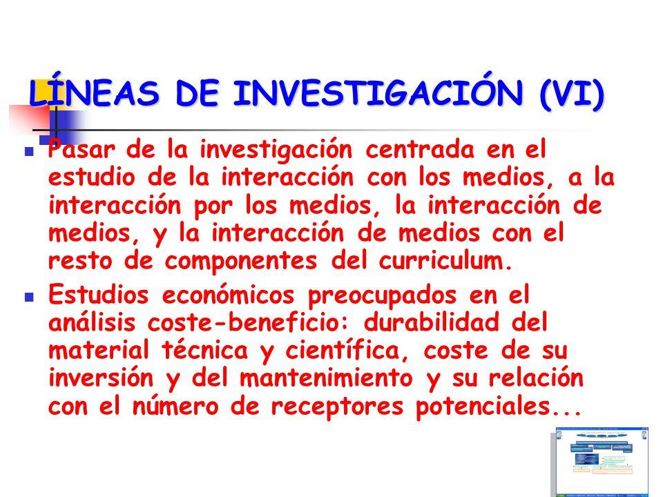 LÍNEAS DE INVESTIGACIÓN (VI)