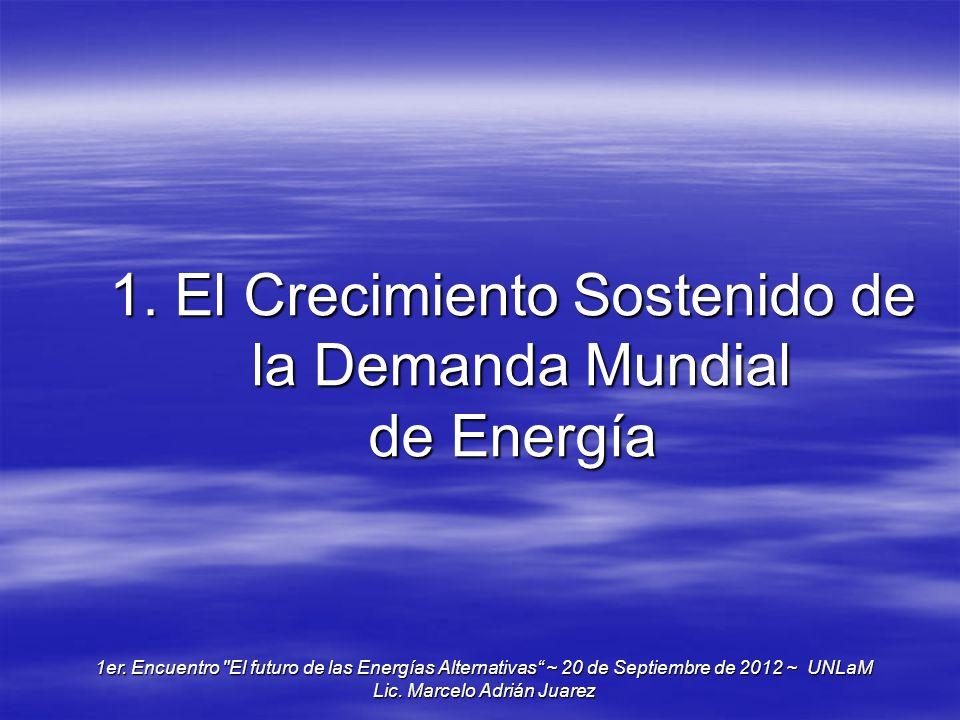 1. El Crecimiento Sostenido de la Demanda Mundial de Energía