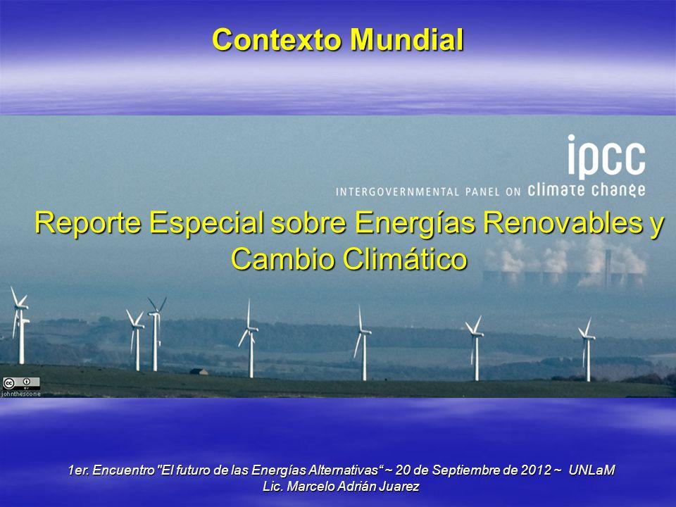 Reporte Especial sobre Energías Renovables y Cambio Climático