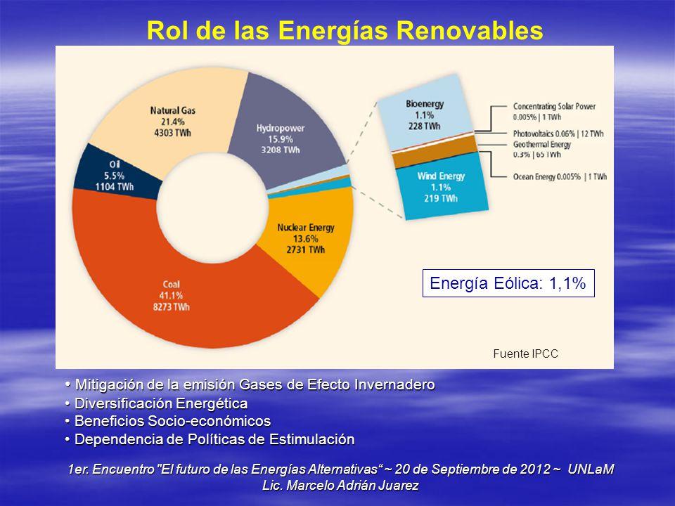 Rol de las Energías Renovables
