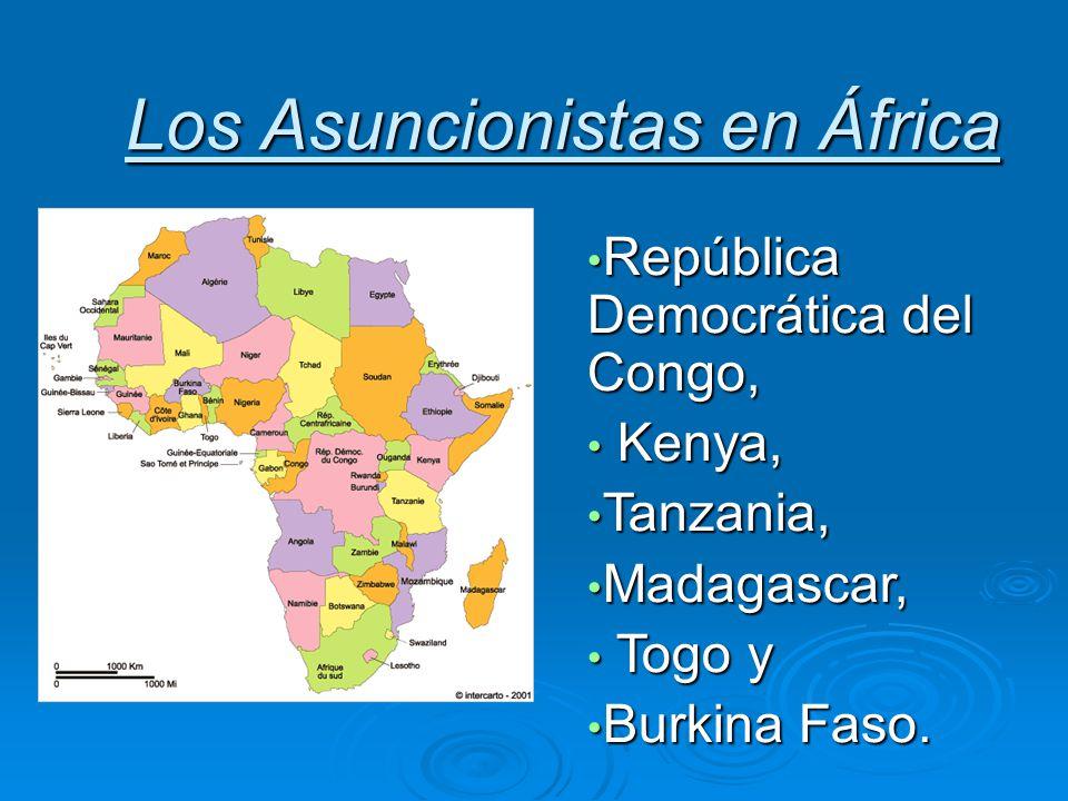 Los Asuncionistas en África