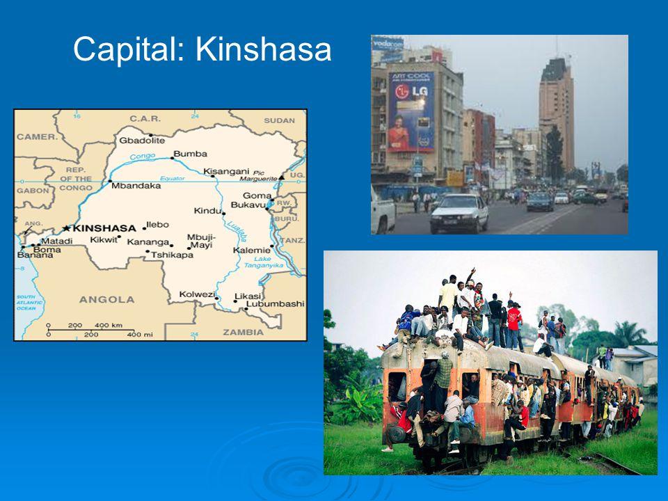 Capital: Kinshasa