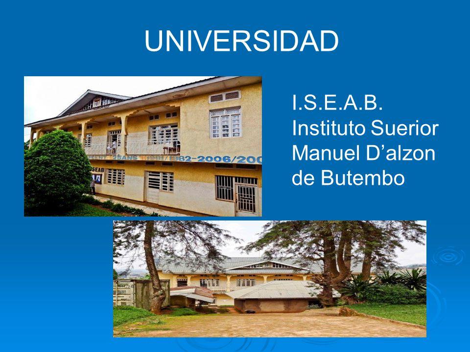UNIVERSIDAD I.S.E.A.B. Instituto Suerior Manuel D'alzon de Butembo