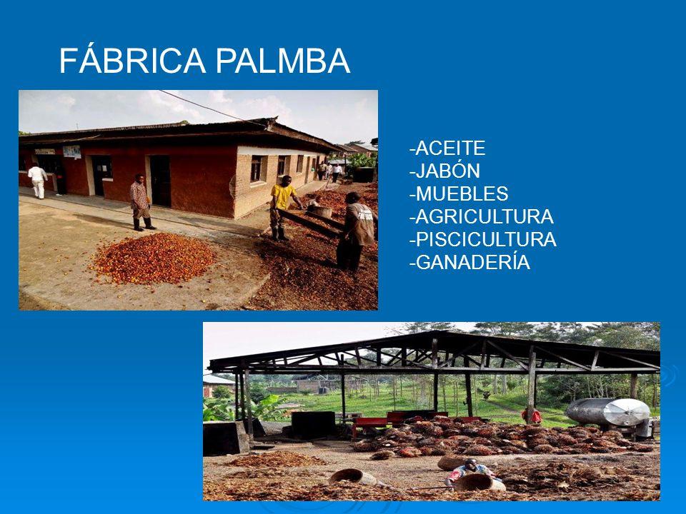 FÁBRICA PALMBA -ACEITE -JABÓN -MUEBLES -AGRICULTURA -PISCICULTURA