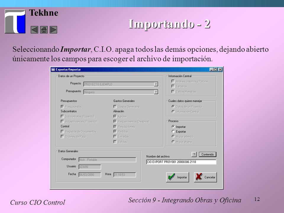 Tekhne Importando - 2.