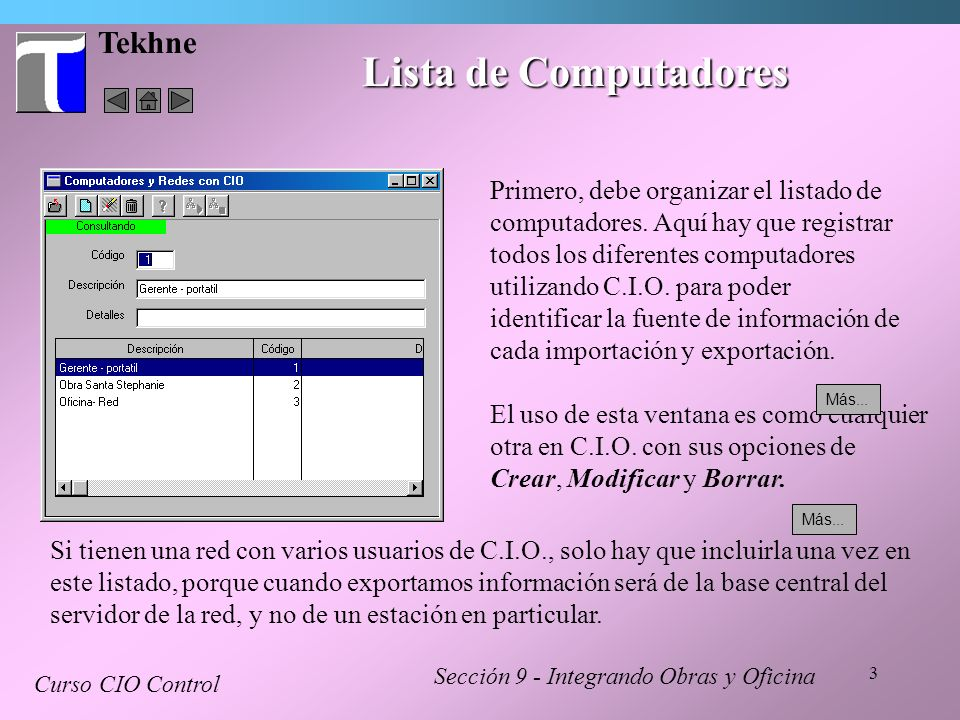 Lista de Computadores Tekhne