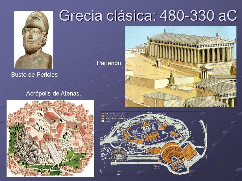 Grecia clásica: 480-330 aC Partenón Busto de Pericles