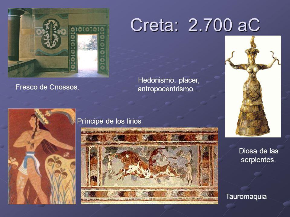 Creta: 2.700 aC Hedonismo, placer, antropocentrismo…