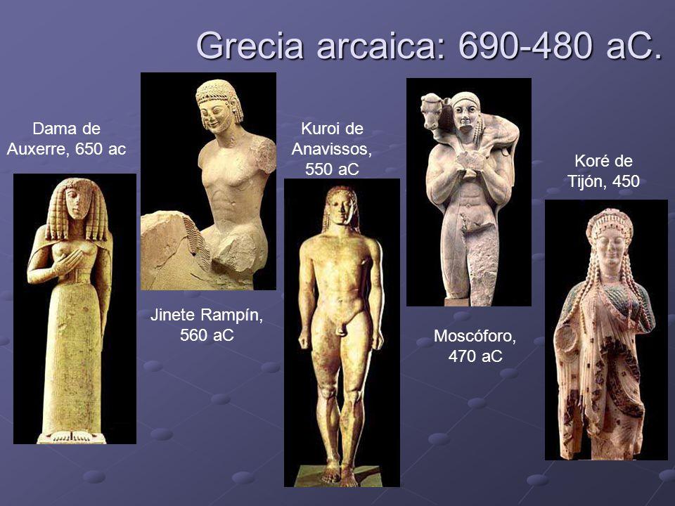 Grecia arcaica: 690-480 aC. Dama de Auxerre, 650 ac