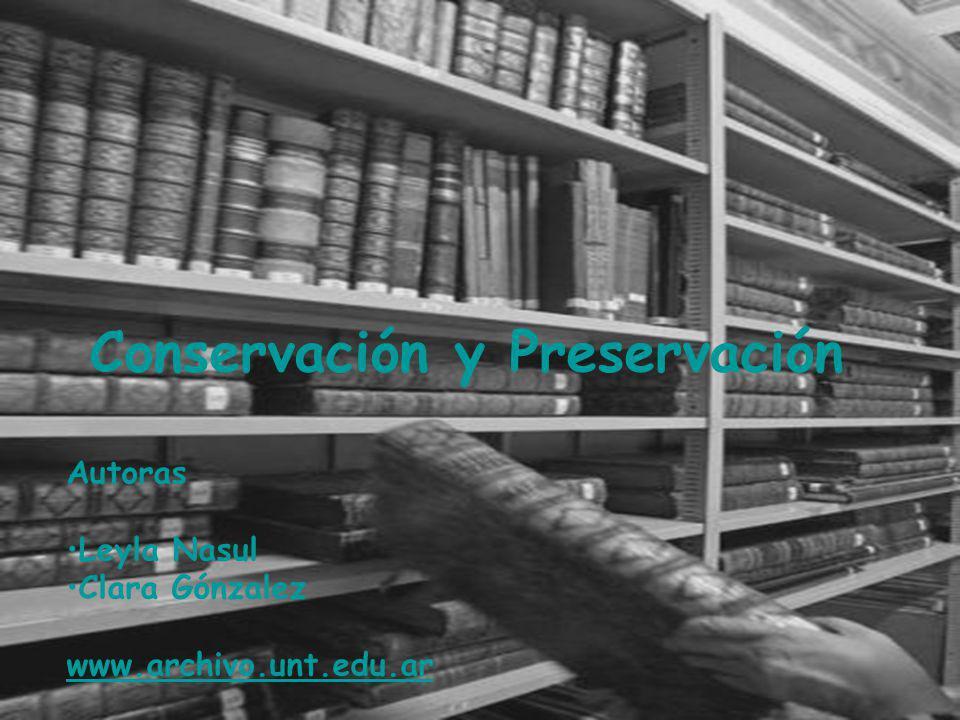 Conservación y Preservación