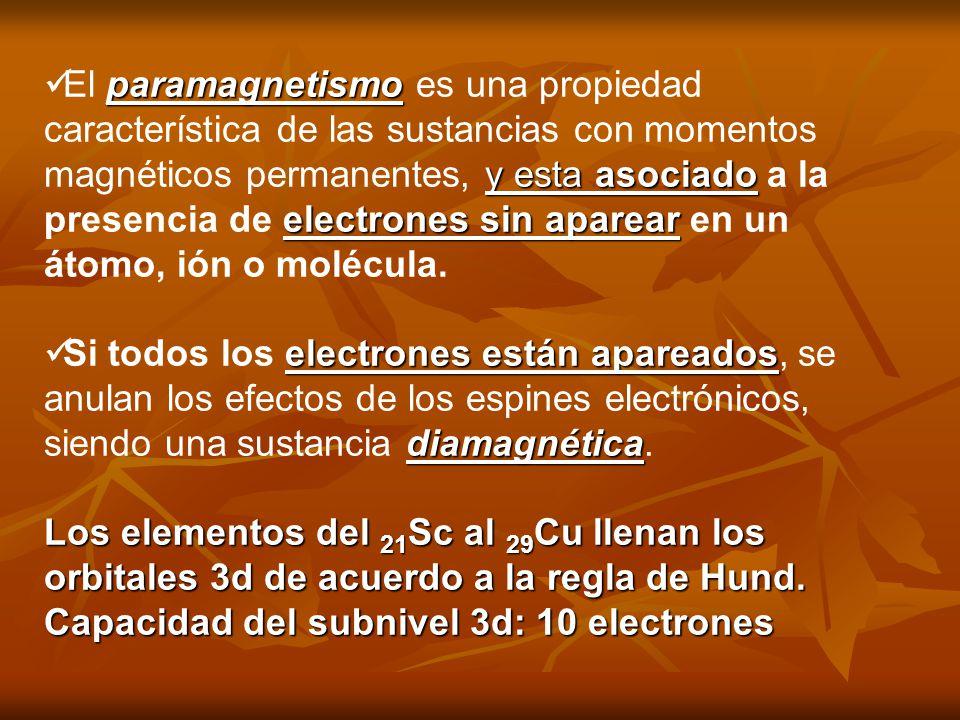 El paramagnetismo es una propiedad característica de las sustancias con momentos magnéticos permanentes, y esta asociado a la presencia de electrones sin aparear en un átomo, ión o molécula.