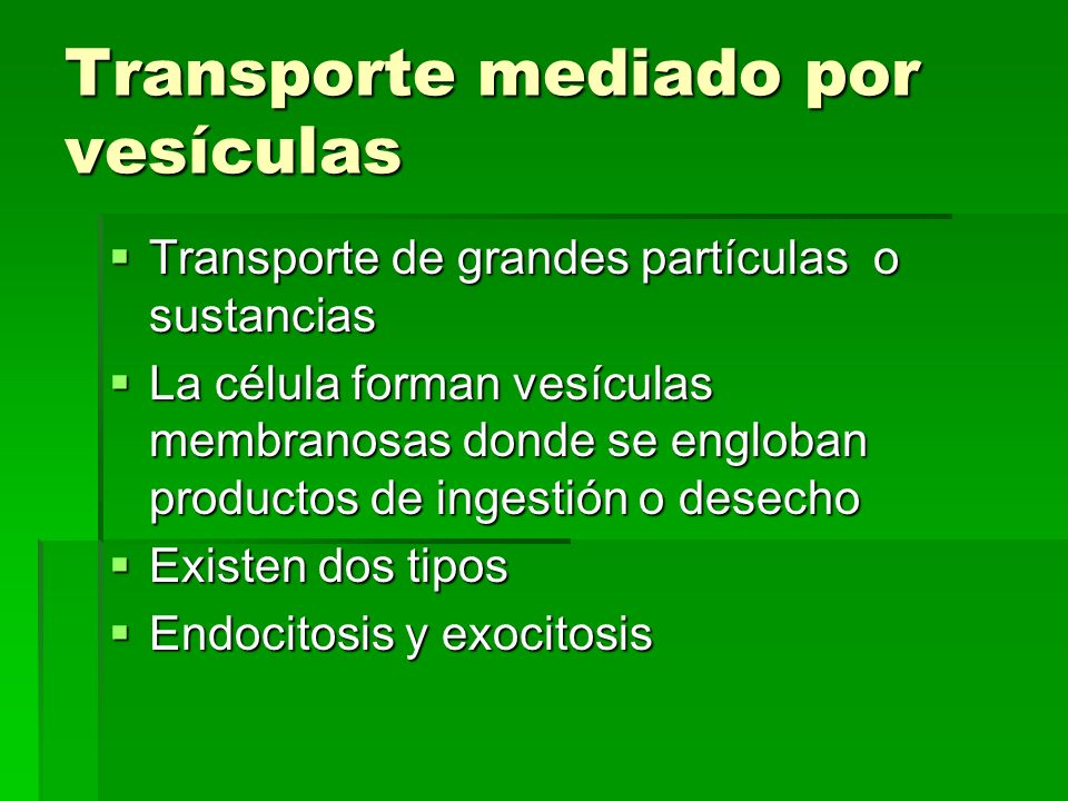 Transporte mediado por vesículas