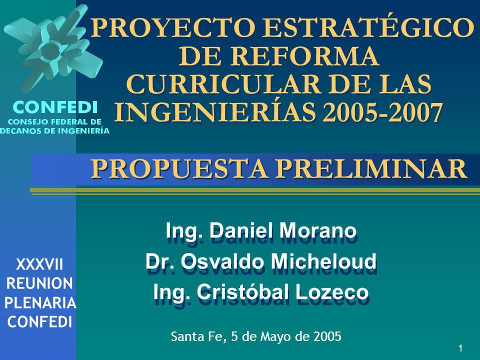 Ing. Daniel Morano Dr. Osvaldo Micheloud Ing. Cristóbal Lozeco