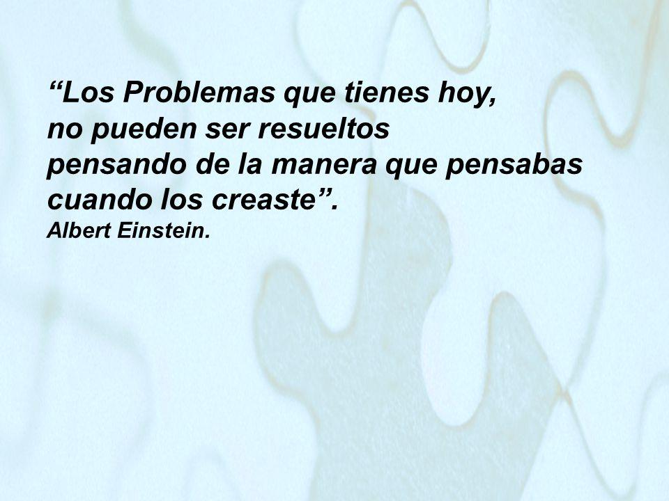 Los Problemas que tienes hoy, no pueden ser resueltos