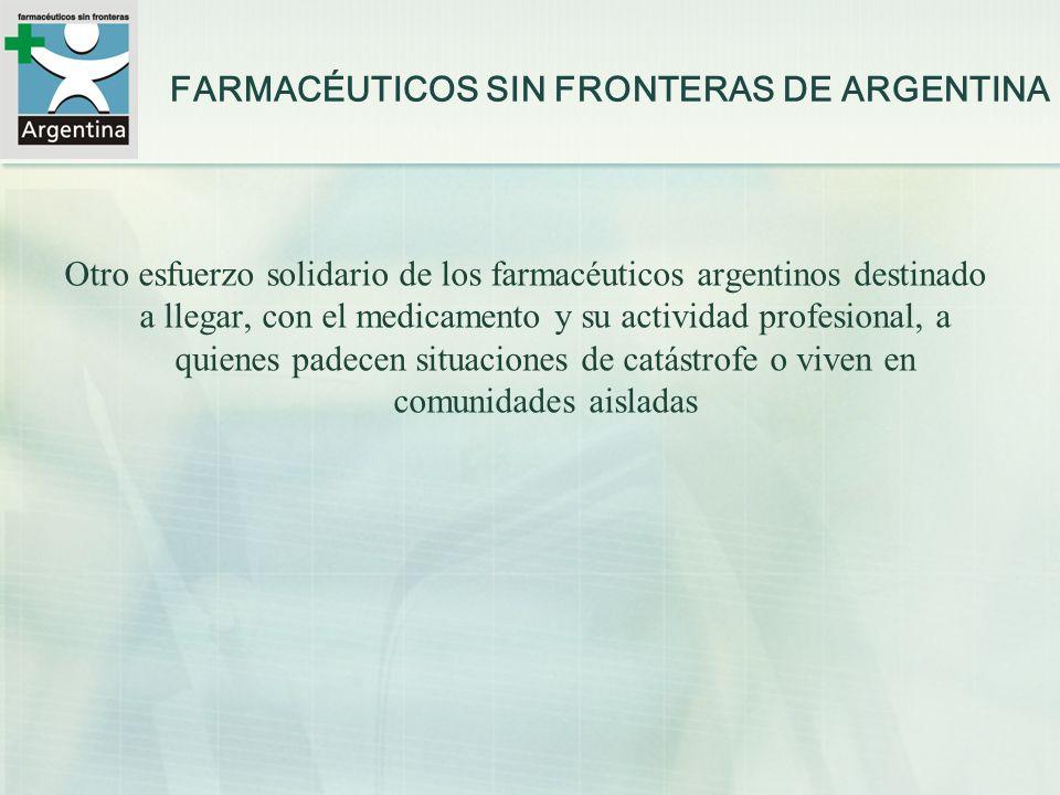 FARMACÉUTICOS SIN FRONTERAS DE ARGENTINA