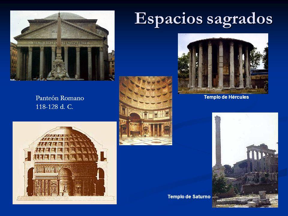 Espacios sagrados Panteón Romano 118-128 d. C. Templo de Hércules