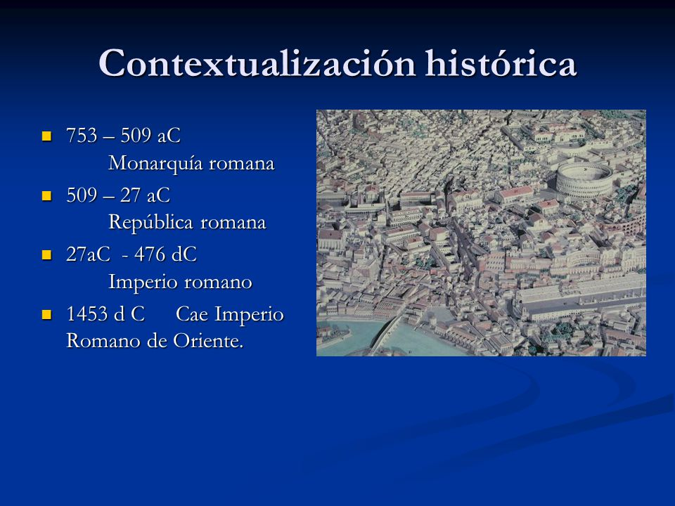Contextualización histórica
