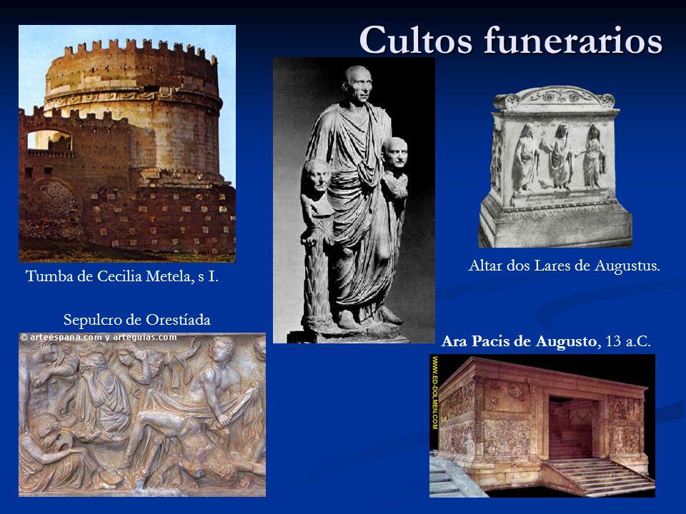 Cultos funerarios Altar dos Lares de Augustus.