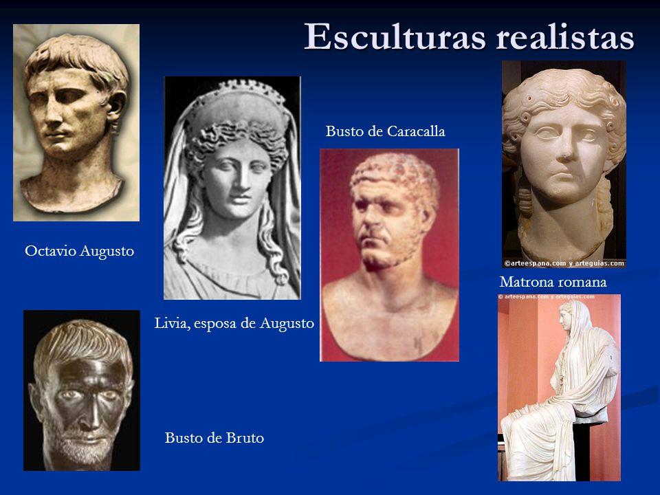 Esculturas realistas Busto de Caracalla Octavio Augusto Matrona romana