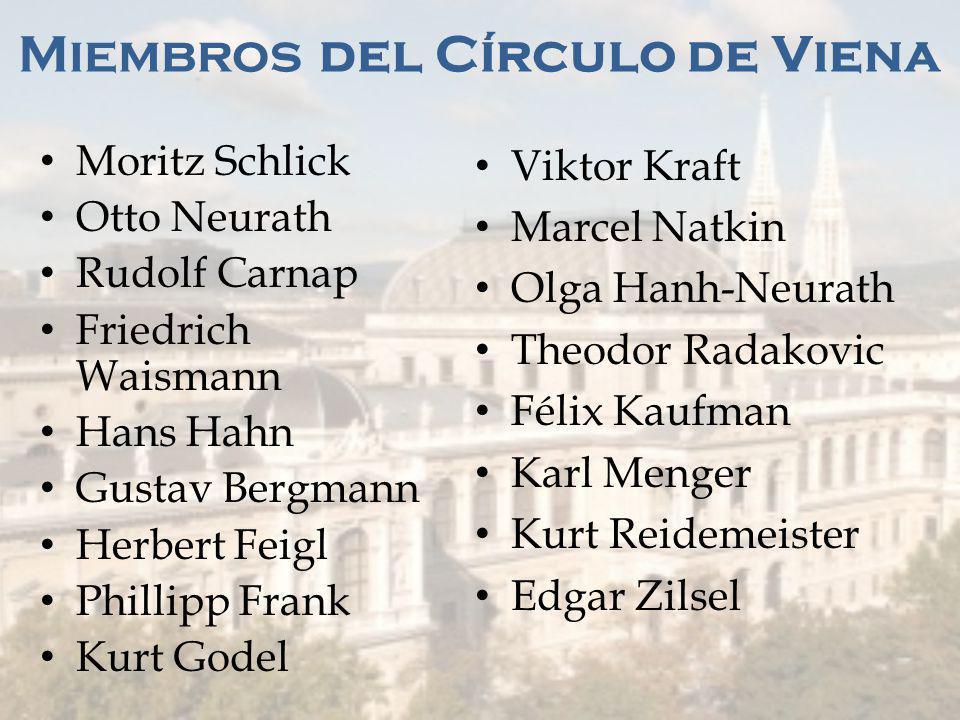 Miembros del Círculo de Viena