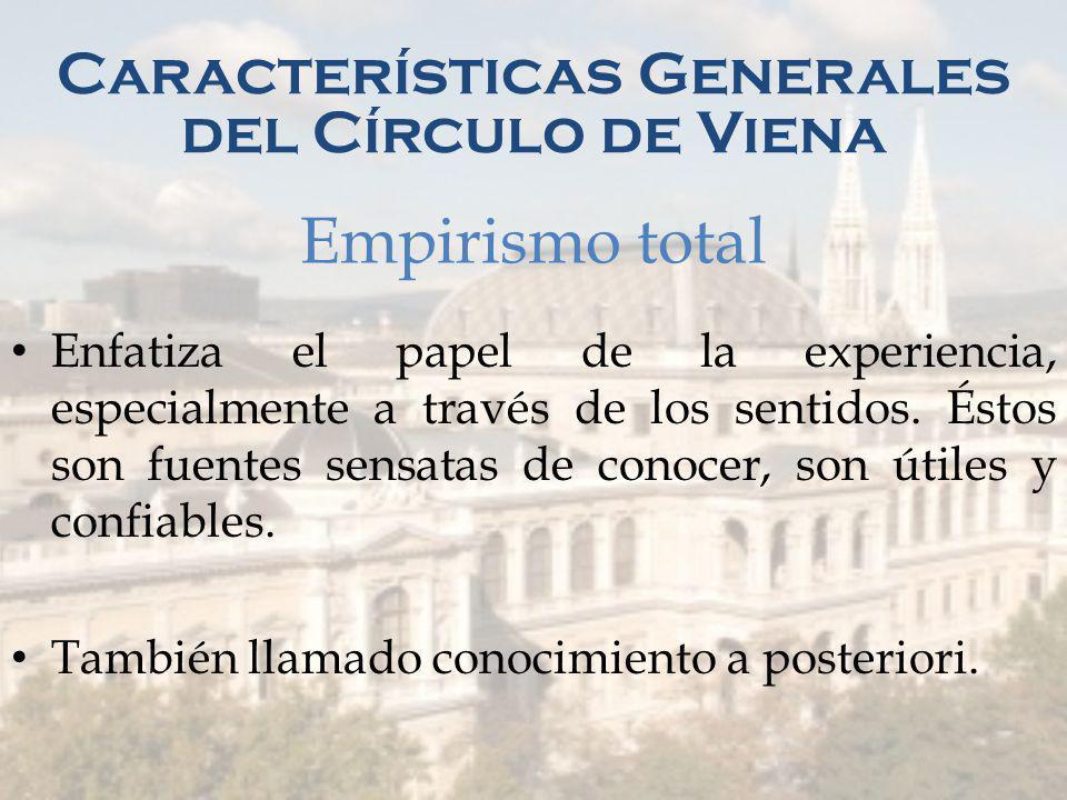 Características Generales del Círculo de Viena