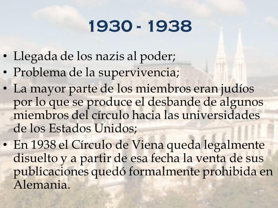 1930 - 1938 Llegada de los nazis al poder;