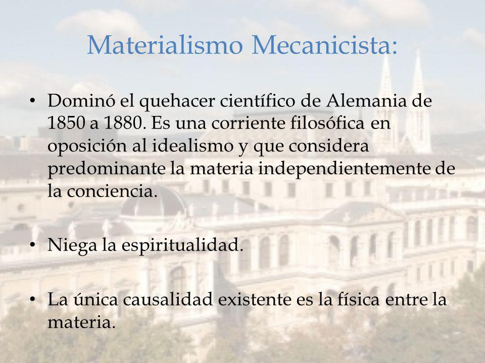 Materialismo Mecanicista:
