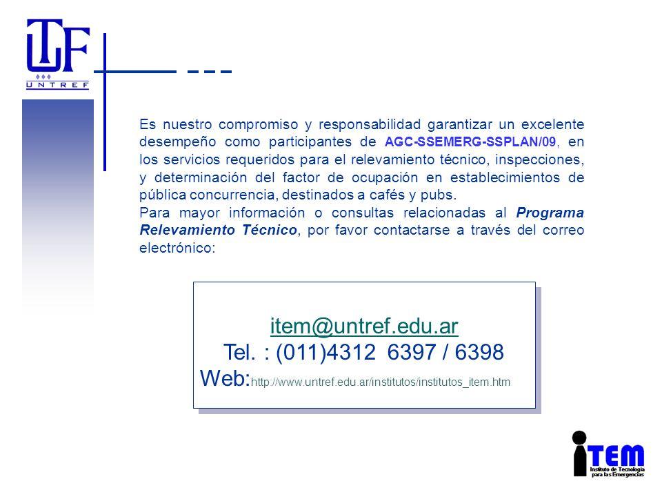 item@untref.edu.ar Tel. : (011)4312 6397 / 6398