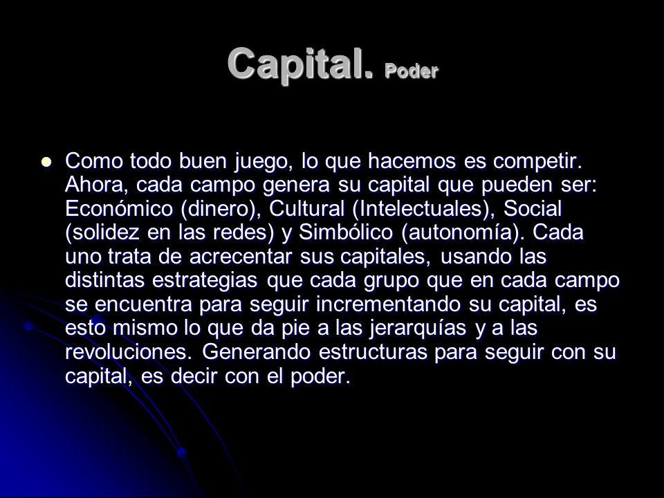 Capital. Poder