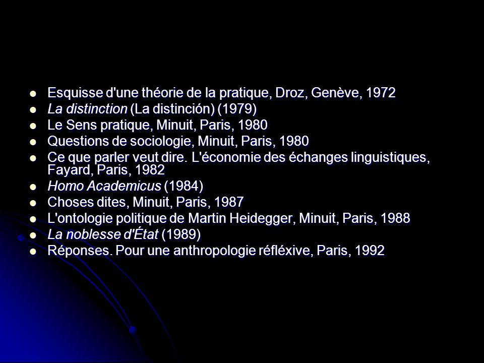 Esquisse d une théorie de la pratique, Droz, Genève, 1972