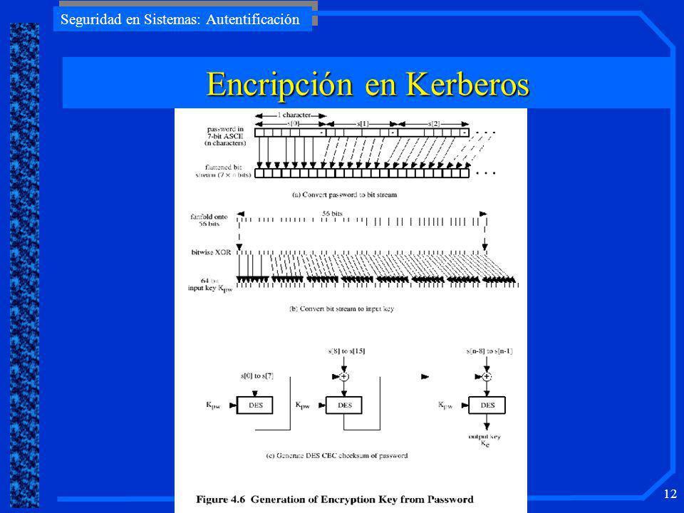 Encripción en Kerberos