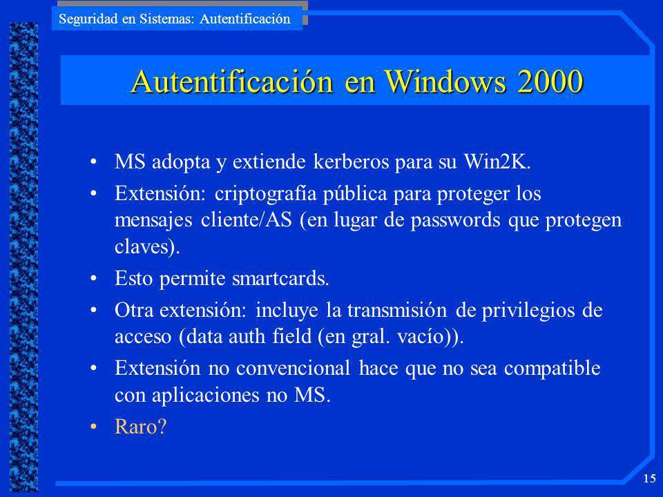 Autentificación en Windows 2000