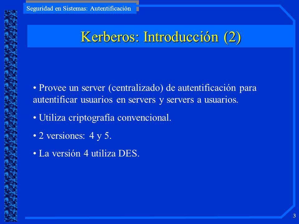 Kerberos: Introducción (2)