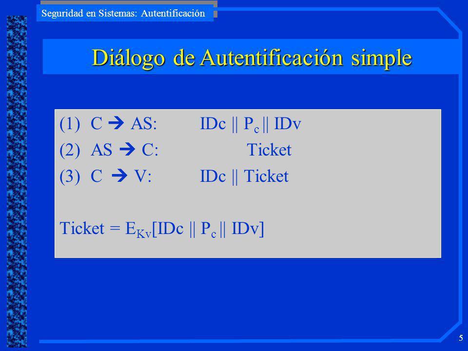 Diálogo de Autentificación simple