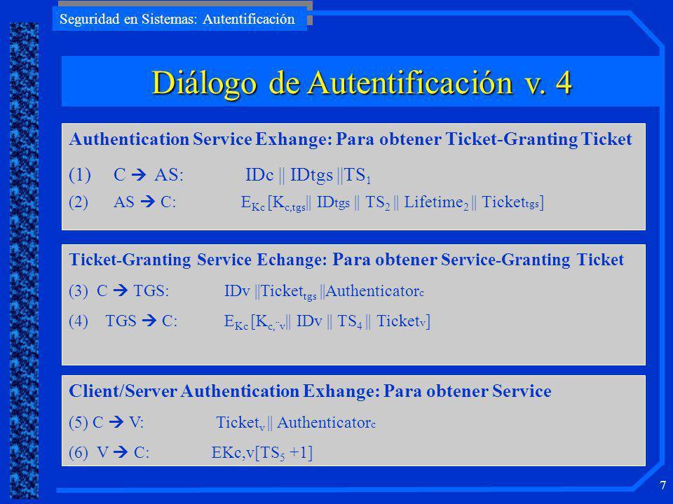 Diálogo de Autentificación v. 4