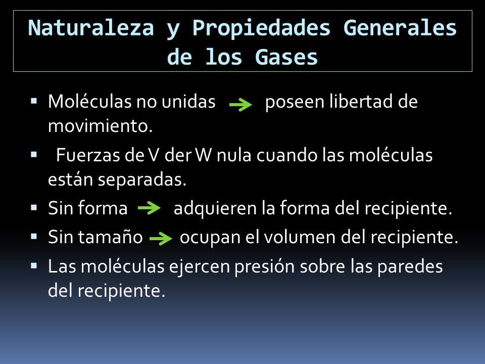 Naturaleza y Propiedades Generales de los Gases