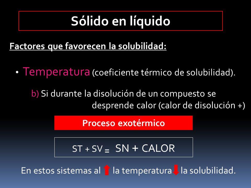 En estos sistemas al la temperatura la solubilidad.