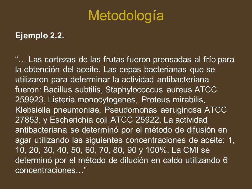 Metodología Ejemplo 2.2.