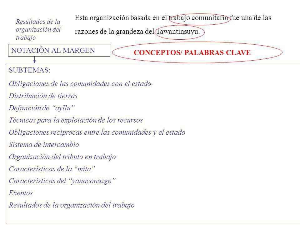 CONCEPTOS/ PALABRAS CLAVE