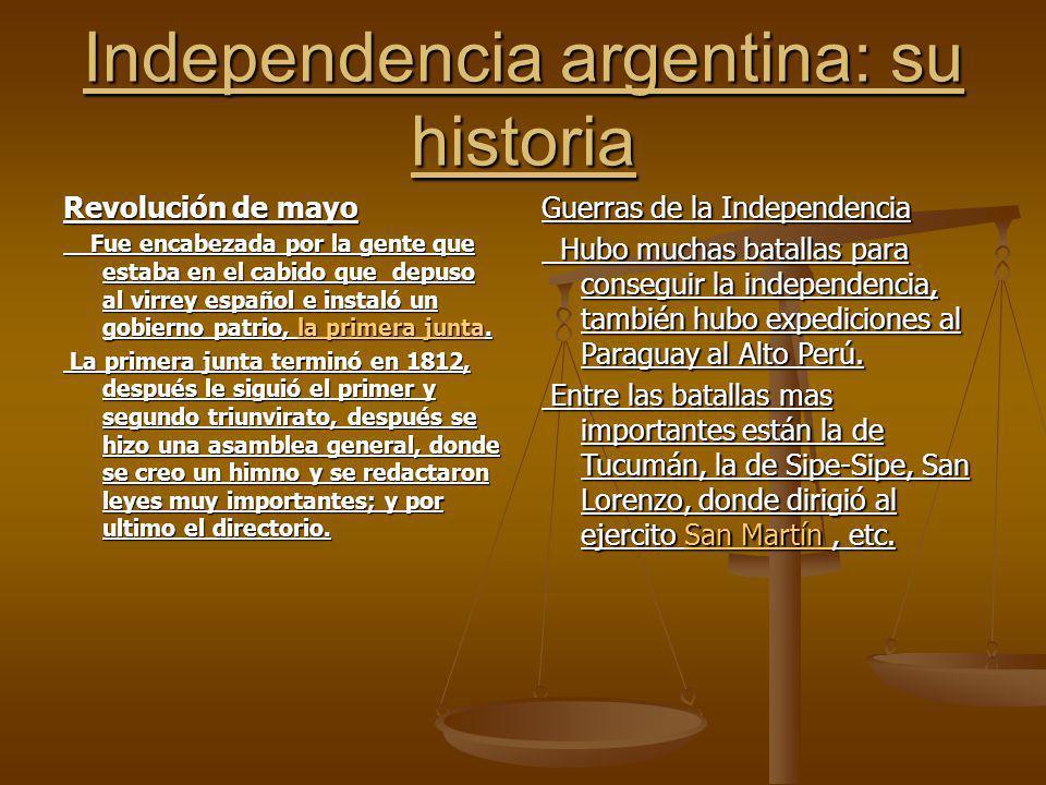 Independencia argentina: su historia
